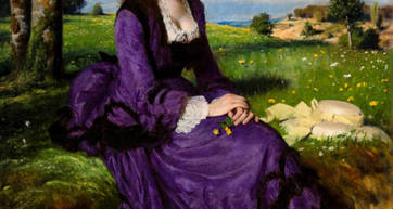 Szinyei Merse Pál, Lady in Violet, 1874 - - Treasures from Budpest Exhibition