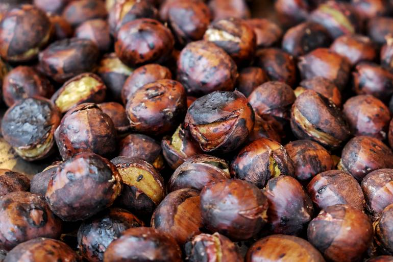 Japanese fall foods chestnuts