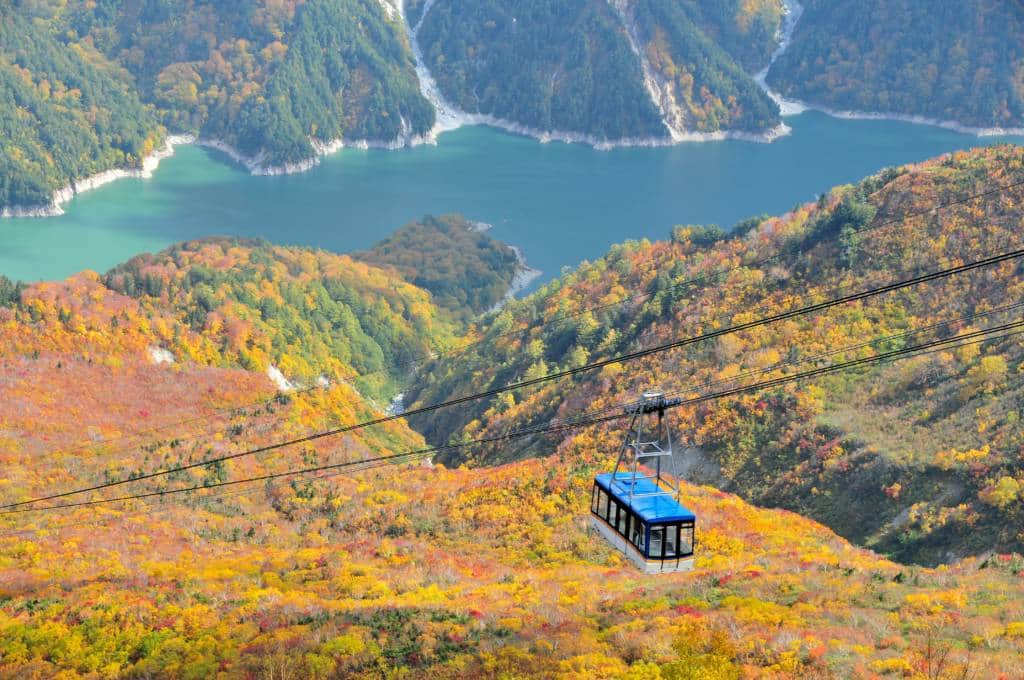 Tateyama mountain autumn cable car