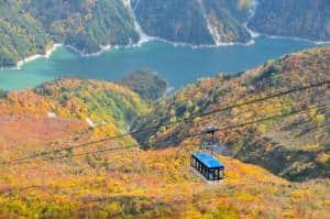 Tateyama mountain autumn cable car