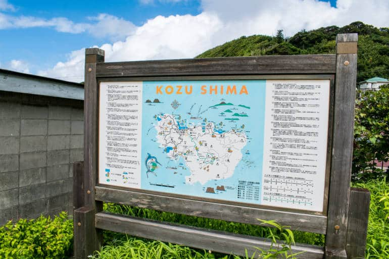sign board map of kozushima