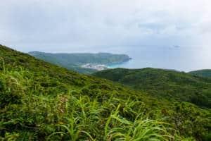 view from mt tenjo on Kozushima Island near Tokyo