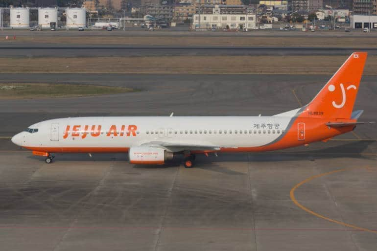 Jeju Air plane in Japan, the LCC flies between Tokyo and Seoul