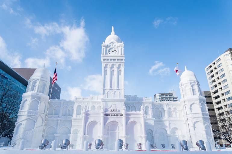 Sapporo Snow Festival - sculpture of building