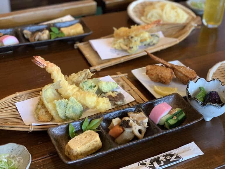 a tempura set