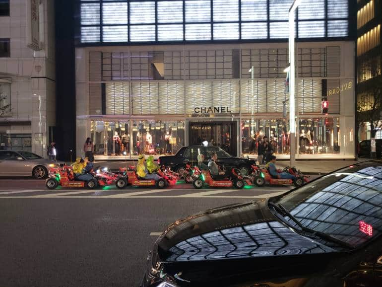 mario kart group in Tokyo