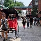 rickshaw driver in the streets of Asakusa