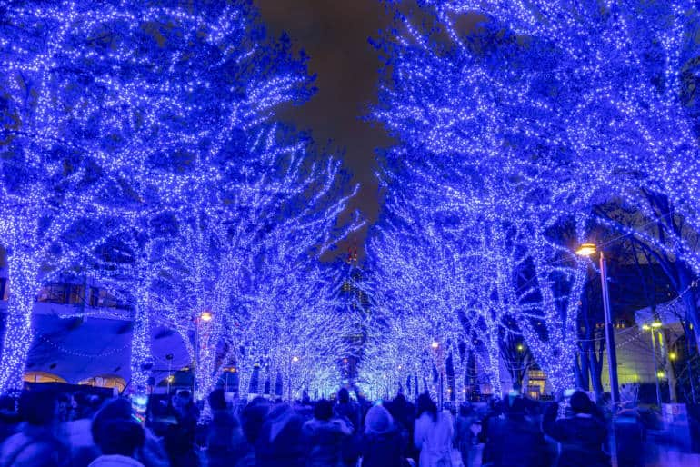 Shibuya Blue Cave winter illumination festival