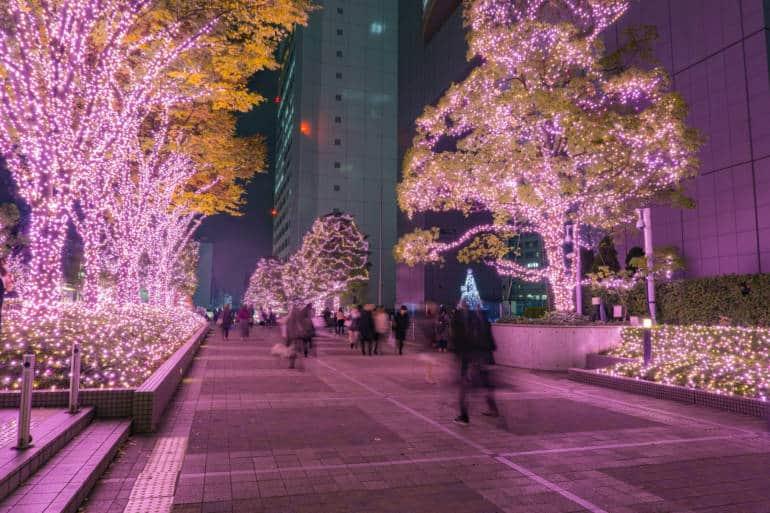 Shinjuku Terrace City Illumination in  tokyo , Japan