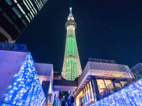 skytree christmas lights