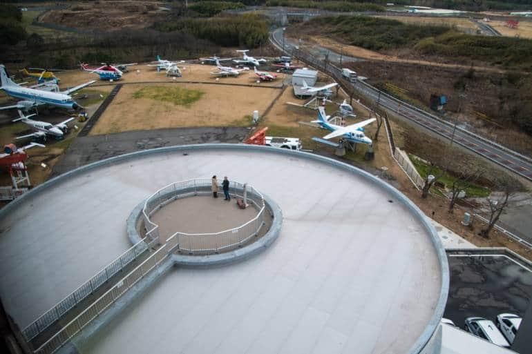 observation deck - narita airplane museum