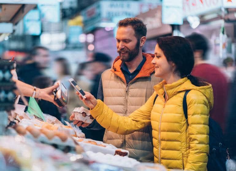 Street market cashless payment