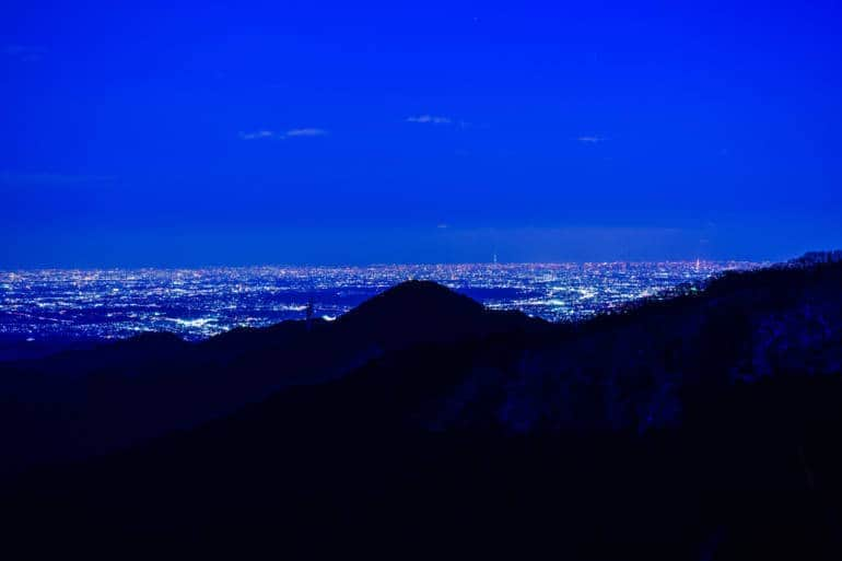 Night view from Mt Mitake