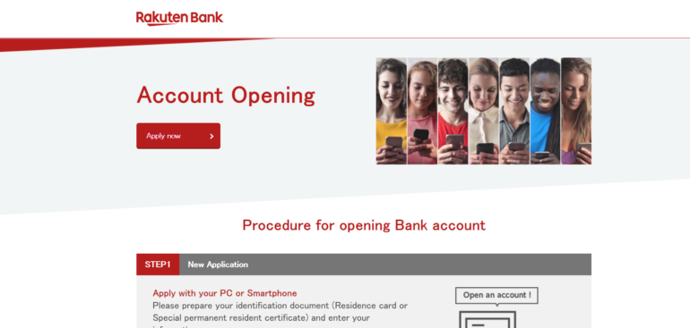 Rakuten Online Bank Japan