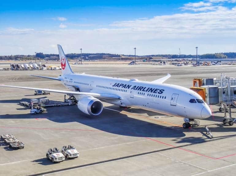Narita Japan airport plane JAL