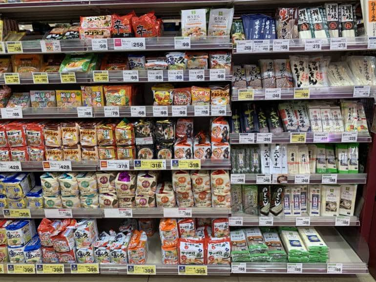 noodles Grocery Shopping in Japan