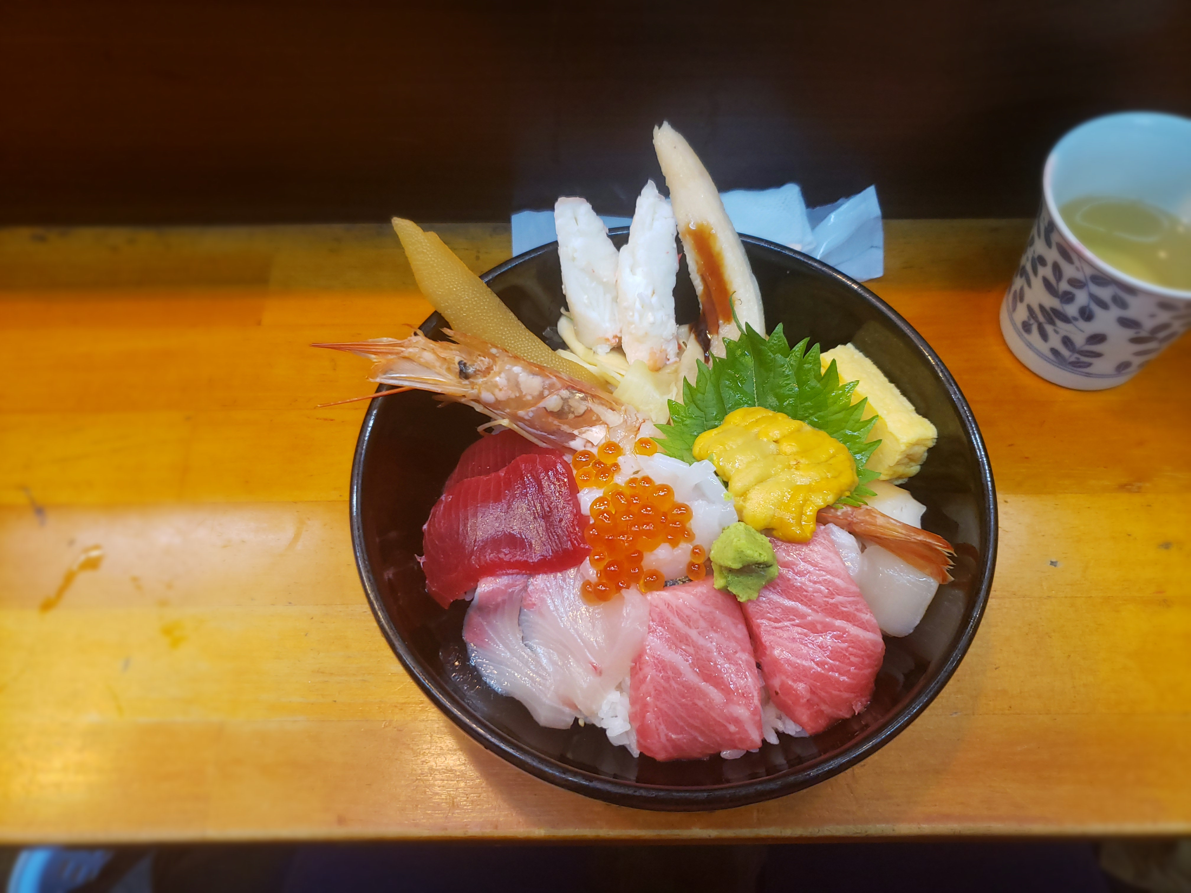 tsukiji outer fish market sushi donburi bowl