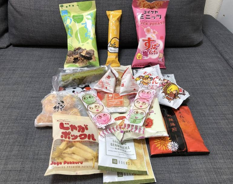 Bokksu subscription Japanese snack box contents