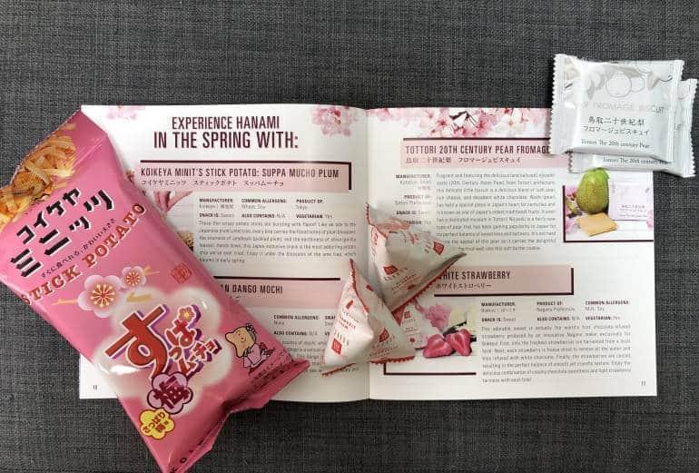 Bokksu snack catalogue