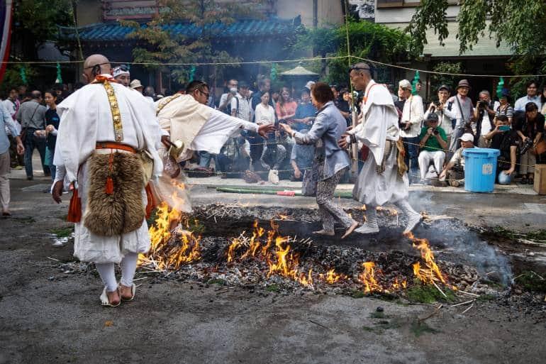 Firewalking, Honsen-ji Temple, Shinagawa Shukuba Festival