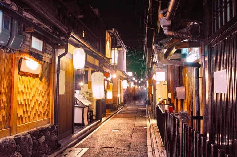 Pontocho in Kyoto night