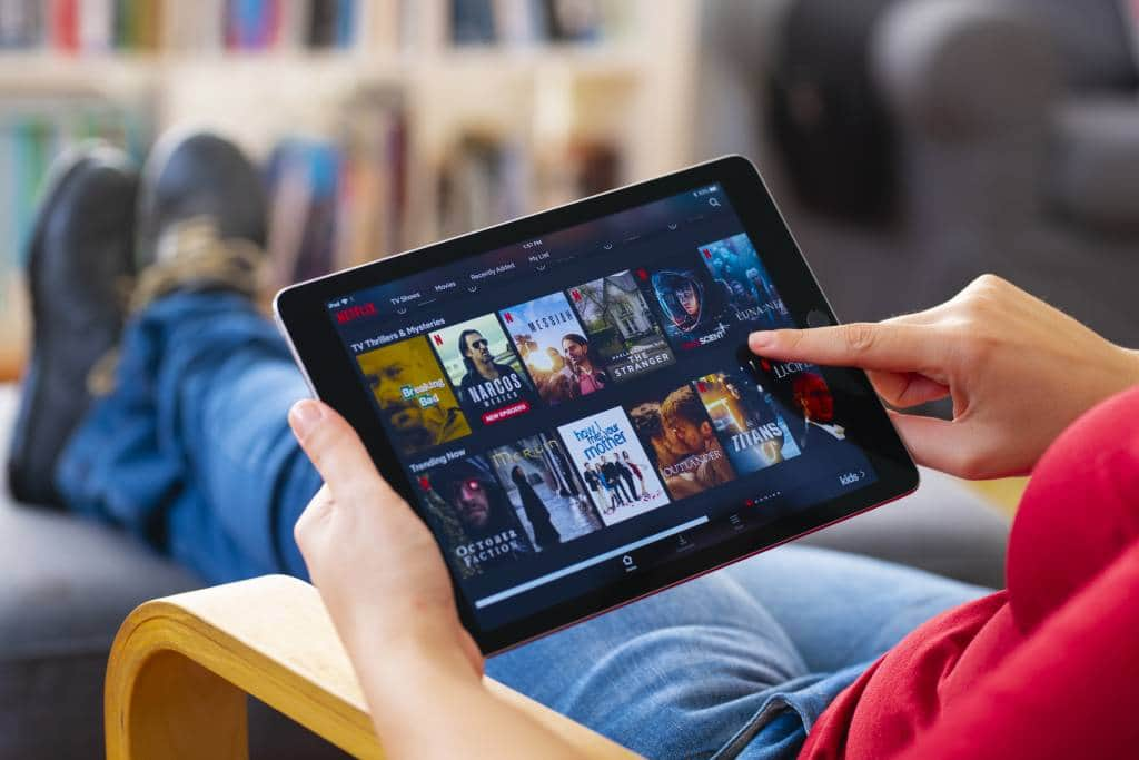 Netflix on tablet