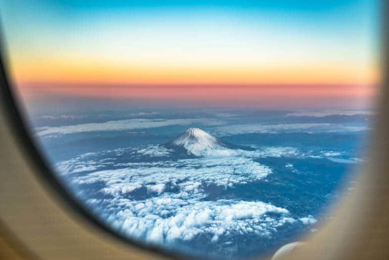 Mt Fuji Plane View