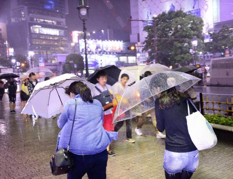 Shibuya Rain Typhoon