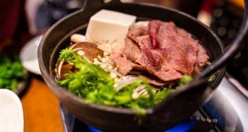 Beef sukiyaki hotpot nabe