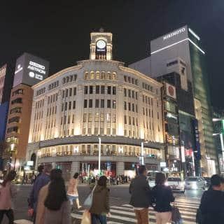 Ginza Wako Department Store and Hattori Clock Tower