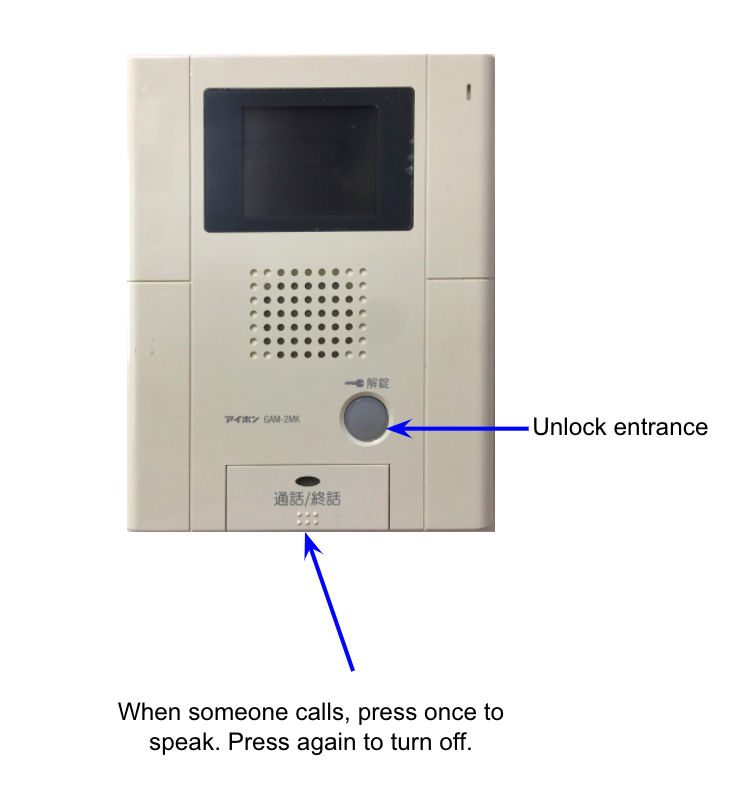 japanese to english translation intercom door