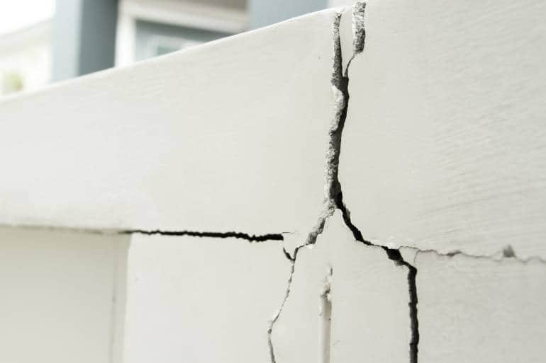 cracked white wall