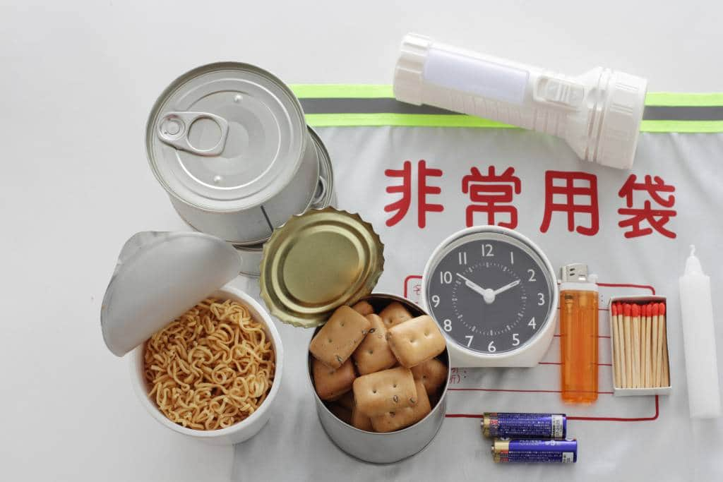 earthquake emergency kit japan