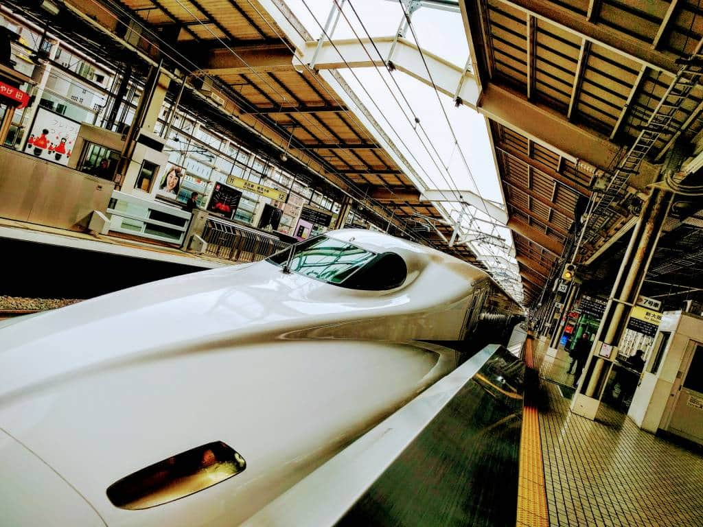shinkansen at kyoto station