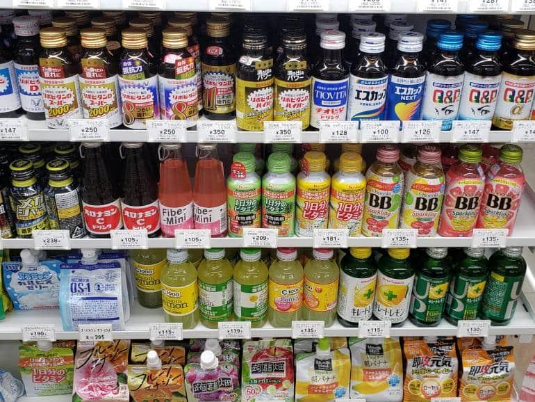 convenience store health drinks tokyo
