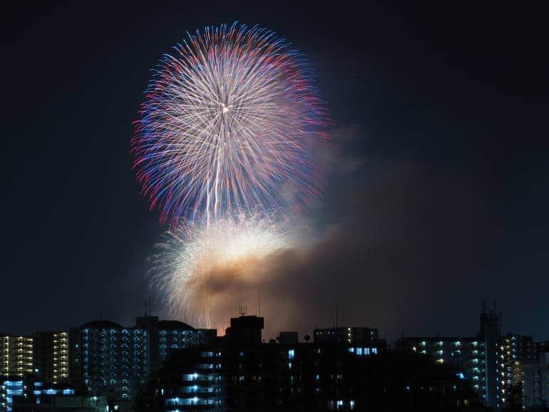 Todabashi fireworks Itabashi