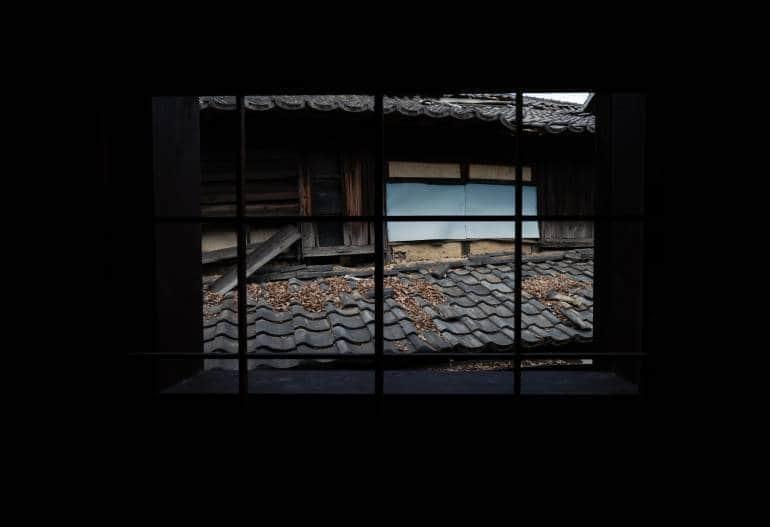 Weathered akiya house in Japan