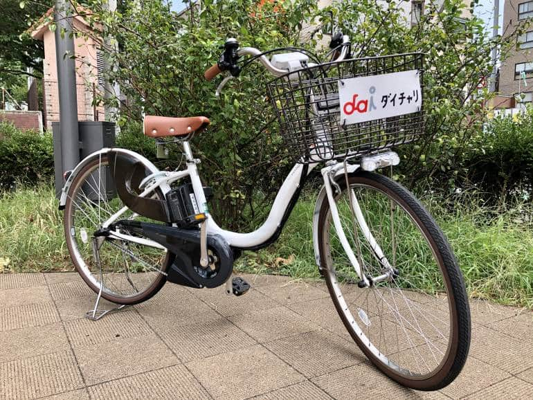 hello cycling rental bike parked