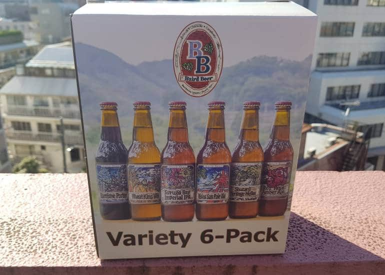 A variety 6 pack from Baird Beer