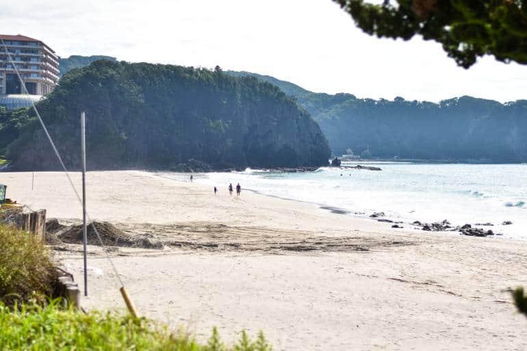 Shimoda beach white sand