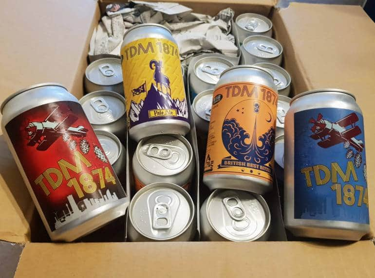 A box of beer from TDM 1874