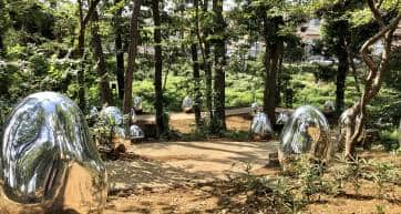 ovoids at teamlab forest saitama