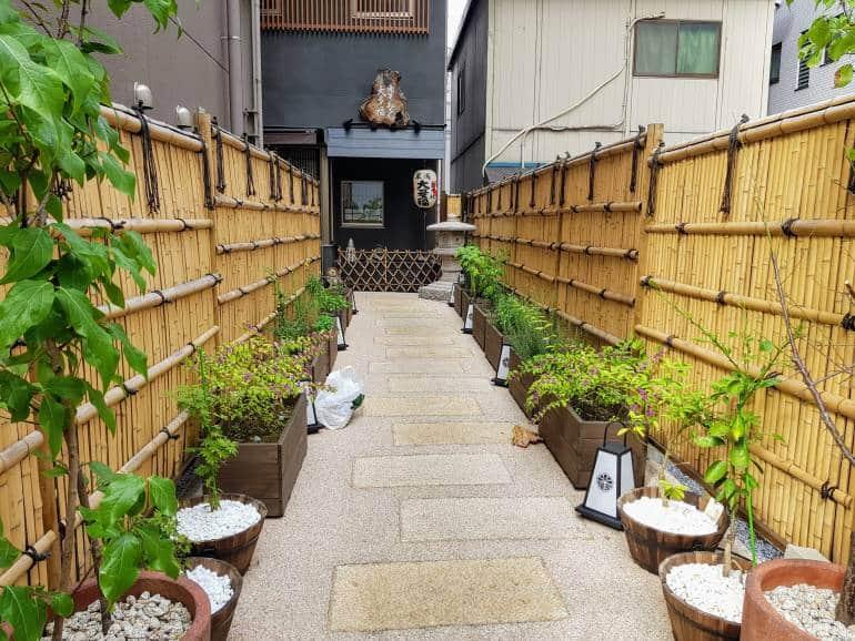 Otafuku path and garden leading to main entrance