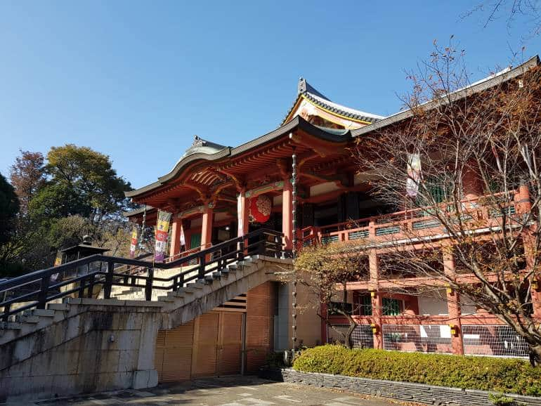 The main hall of Ryutenji-Meguro Fudo
