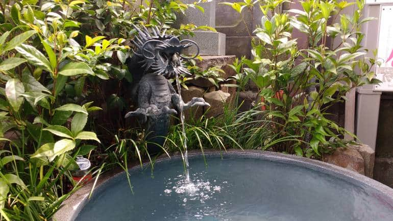 Dragon with water coming out of its mouth