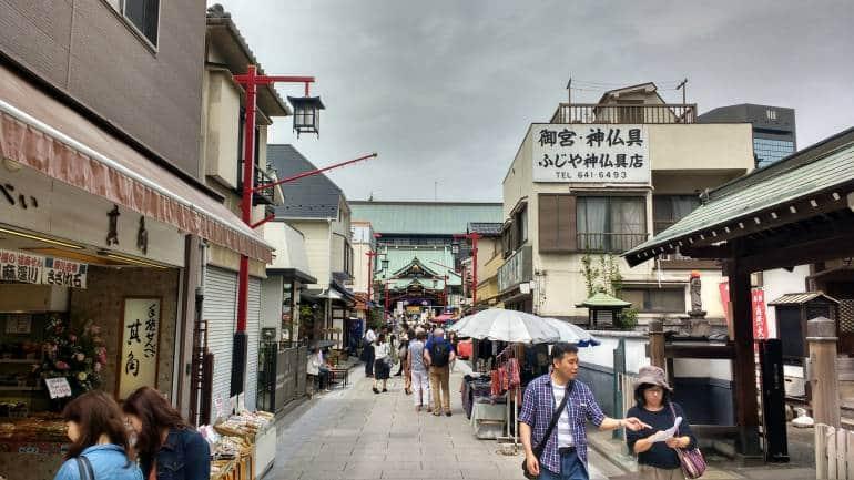 The street approaching Fukagawa-fuodo-fo