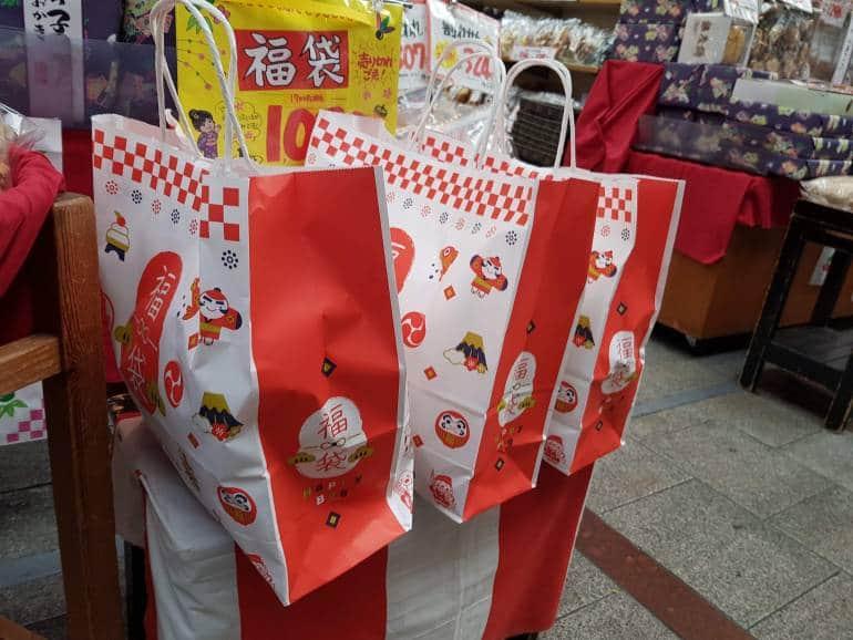 fukubukuro, lucky bags with discounted items