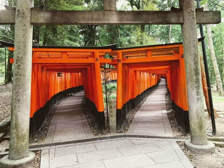 Fushimi Inari Shrine red torii gates