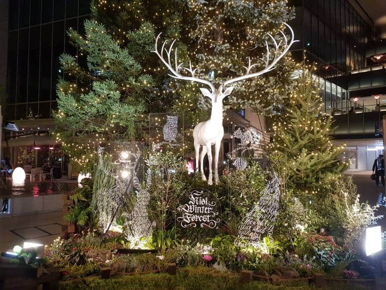 Christmas tree with stag