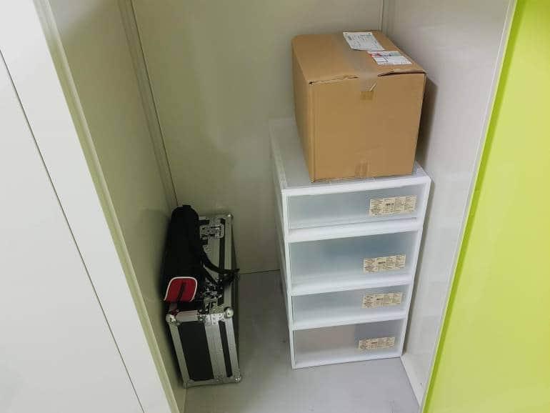 Inside a tokyo self-storage unit